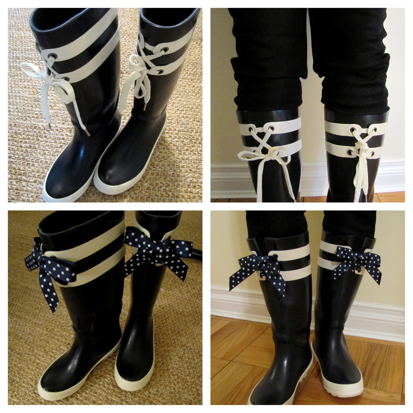 DIY, rubber boots, rain boots, refashion,