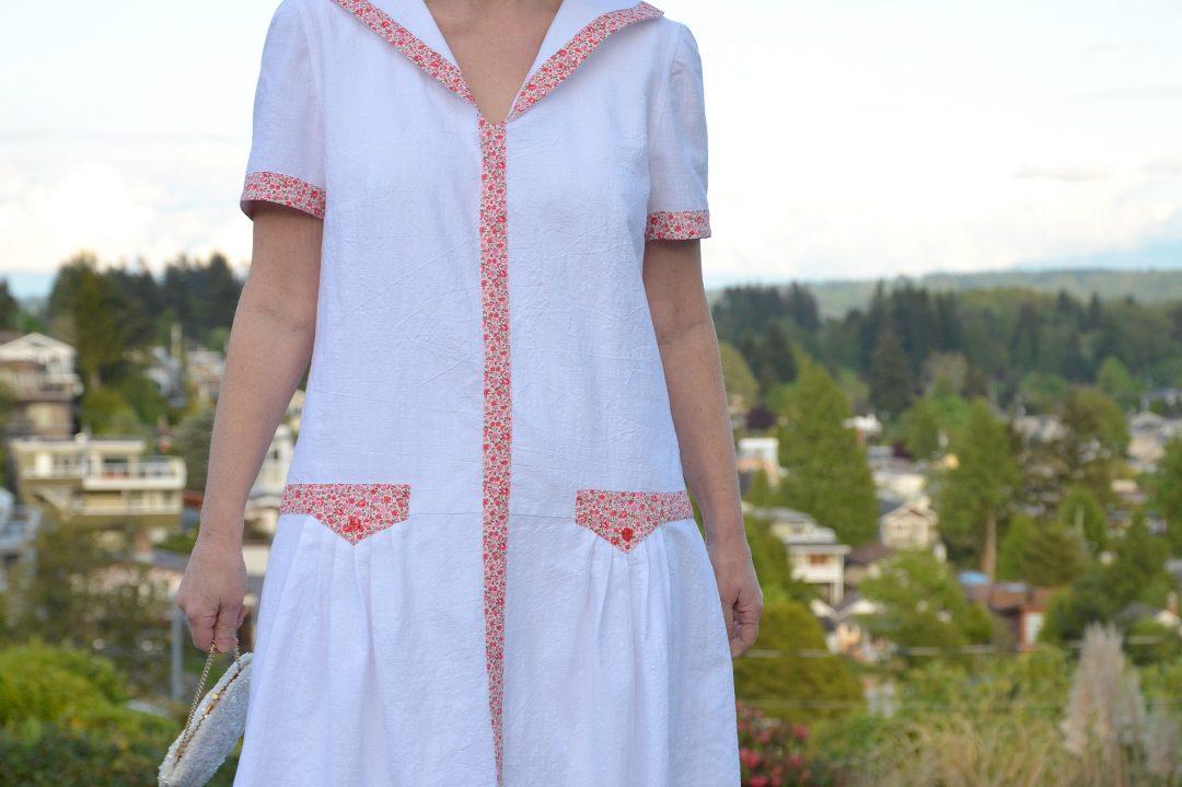 Burda Pattern 7255, Midnight in Paris Dress, Project Sewn