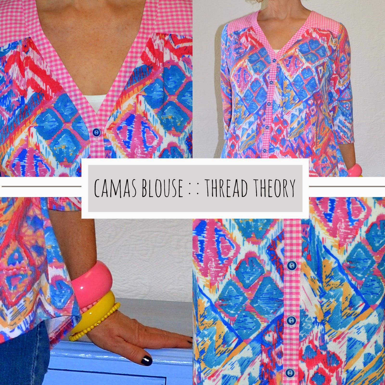 A Colourful Canvas, Camas Blouse, Thread Theory