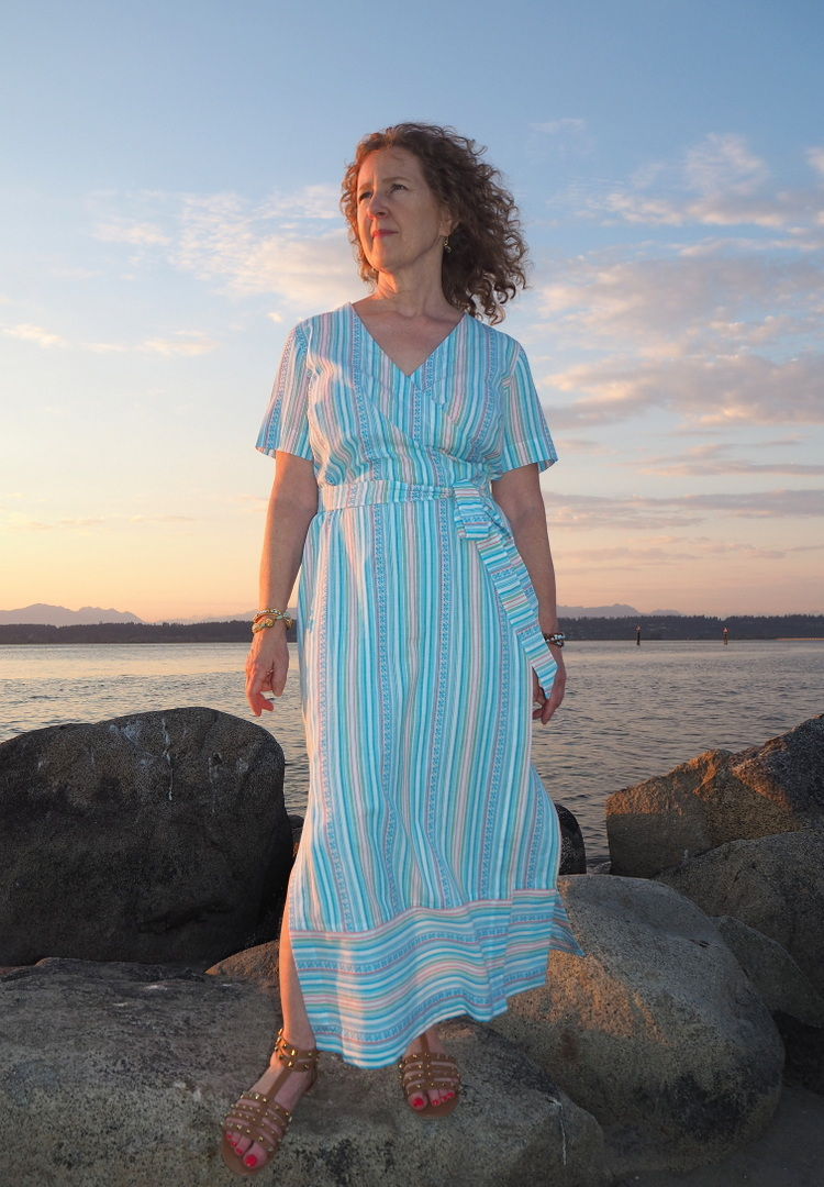 Highlands Wrap Dress, Indiesew, A Colourful Canvas, Vancouver Blogger, Vancouver Sewing Blog