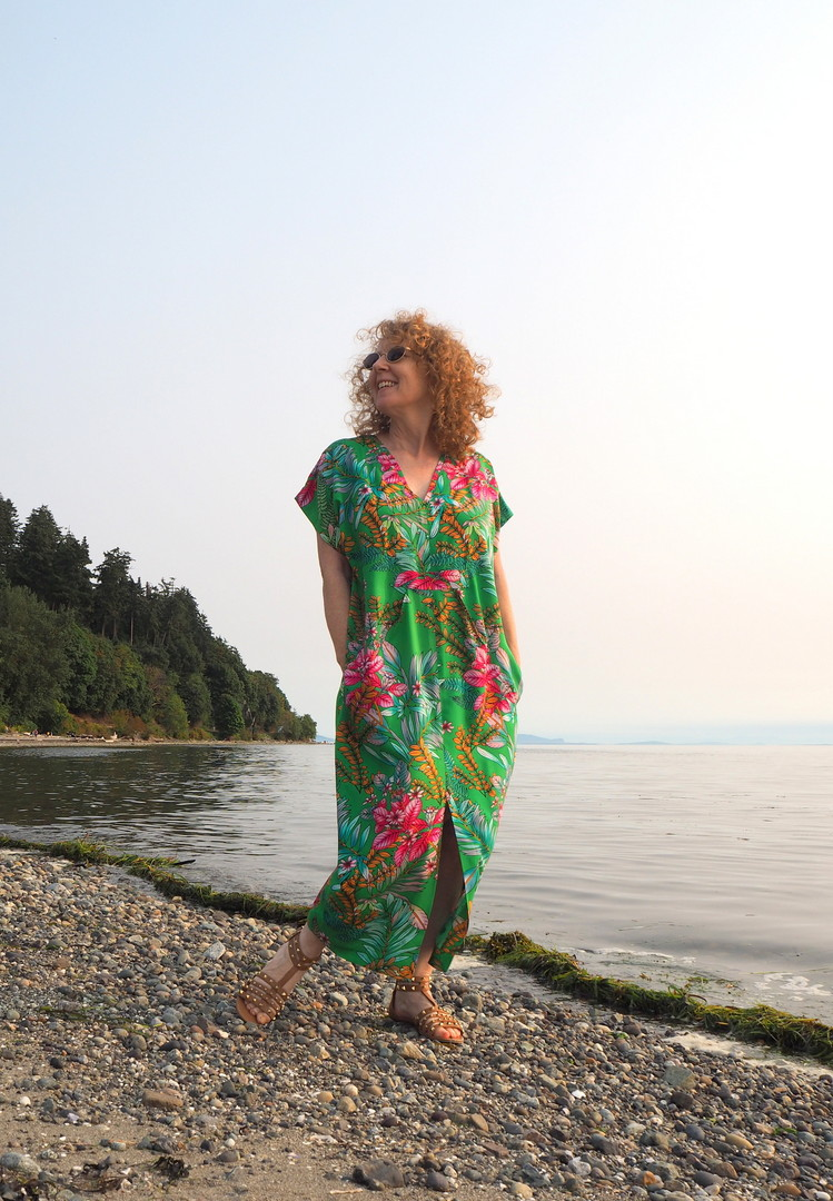 Charlie Caftan, A Colourful Canvas, Vancouver Blogger, Blackbird Fabrics